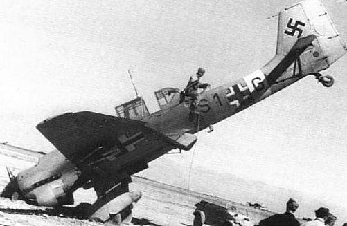 збитий німецький літак