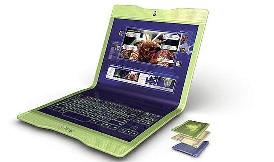 Кращі концептуальні ноутбуки року: Gelfrog від студії Frog Design