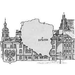Польща - країна, картинка чорно-біла
